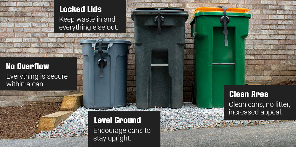 tips for keeping trash collection areas clean